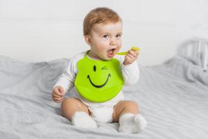 o bebe parou de comer